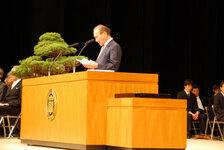 平成24年3月23日 愛媛大学卒業式 森本(校友会)会長 祝辞