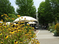 校友会館前 中庭